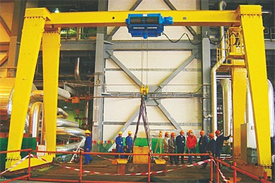 MH type single girder gantry crane